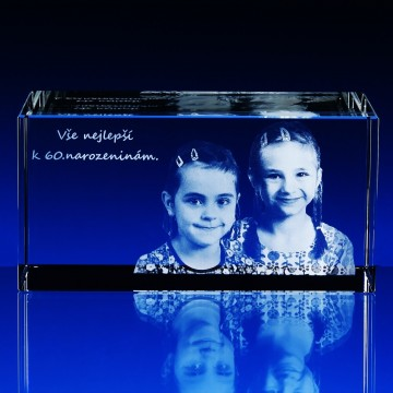 3D GLASFOTO 150x80x80 mm
